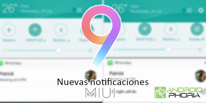 nuevas notificaciones miui 9 actualizacion