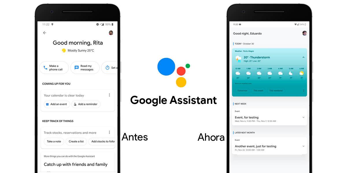 nuevo diseño asistente Google