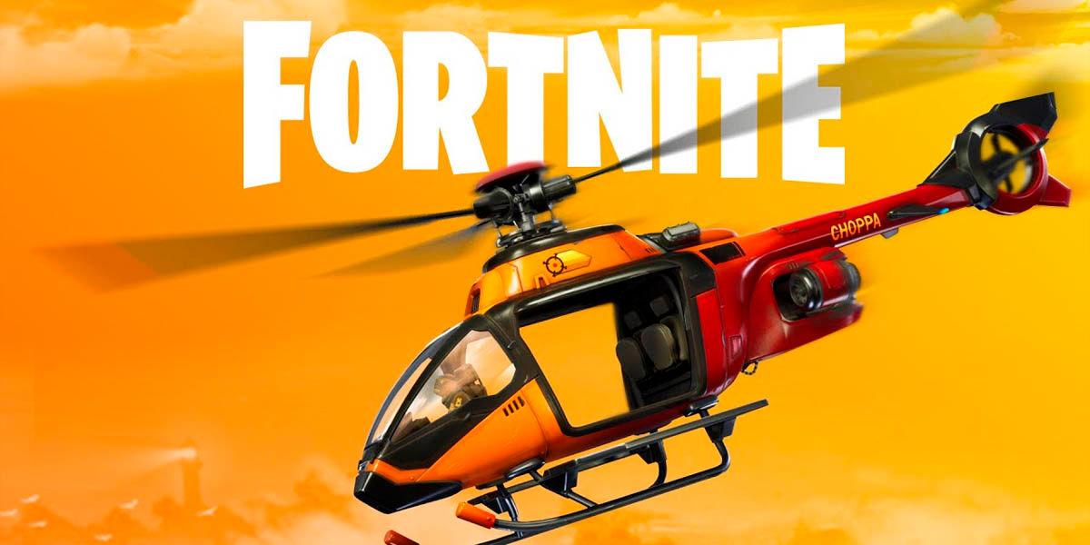 Nuevo helicóptero Choppa Fortnite capítulo 2 parche 12.20