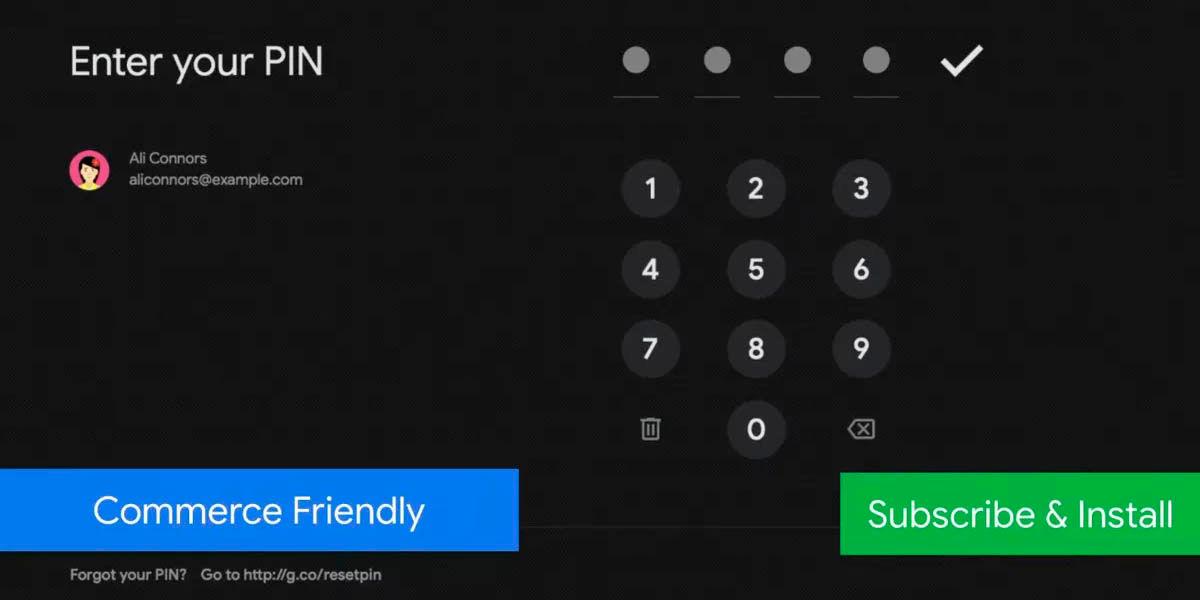 nuevo sistema suscripción fácil android tv play store