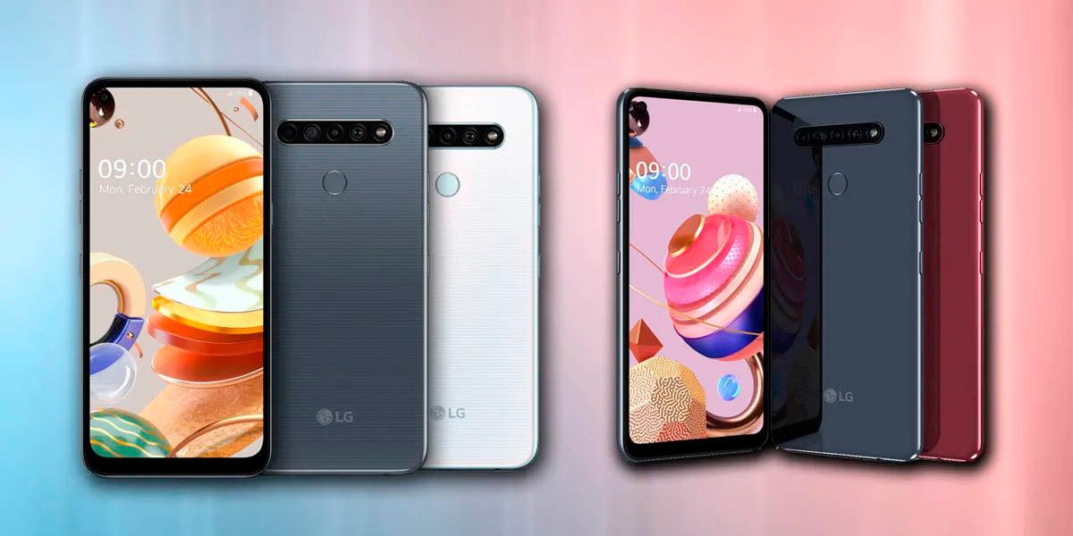 nuevos LG K40S K51S y K61