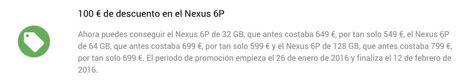 nuevos nexus 100 euros menos