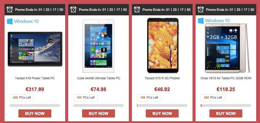 ofertas tablets gearbest cybermonday