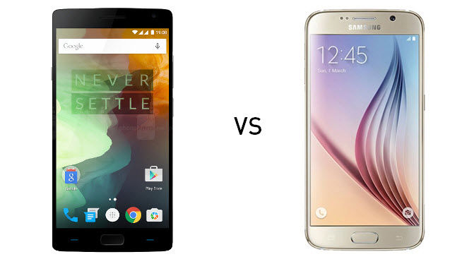 oneplus 2 vs galaxy s6 comparativa