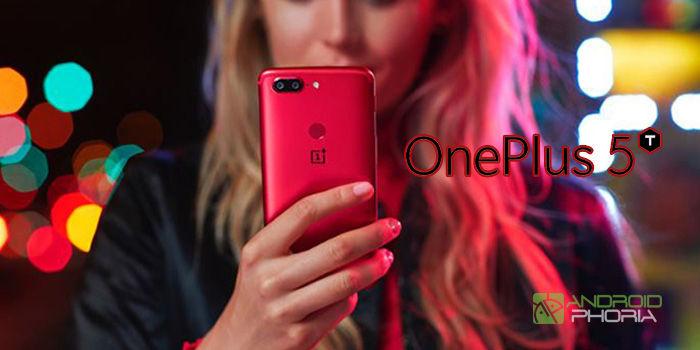 oneplus 5t color rojo lava