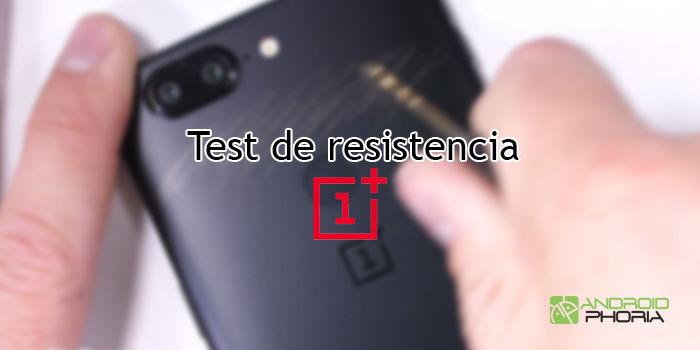 oneplus 5t test resistencia durabilidad