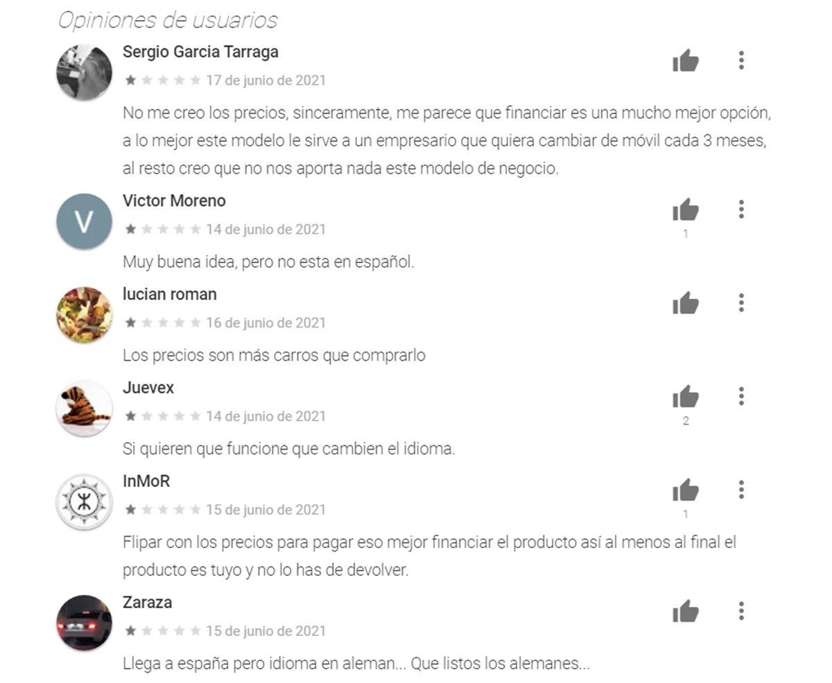 opiniones negativas de grover en google play