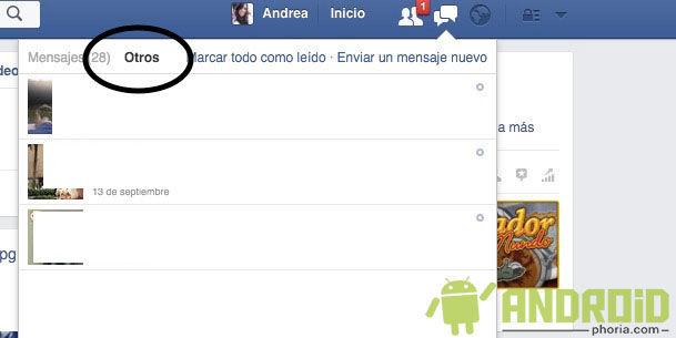 otros mensajes en facebook