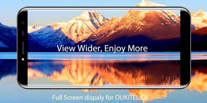 OUKITEL C8 pantalla