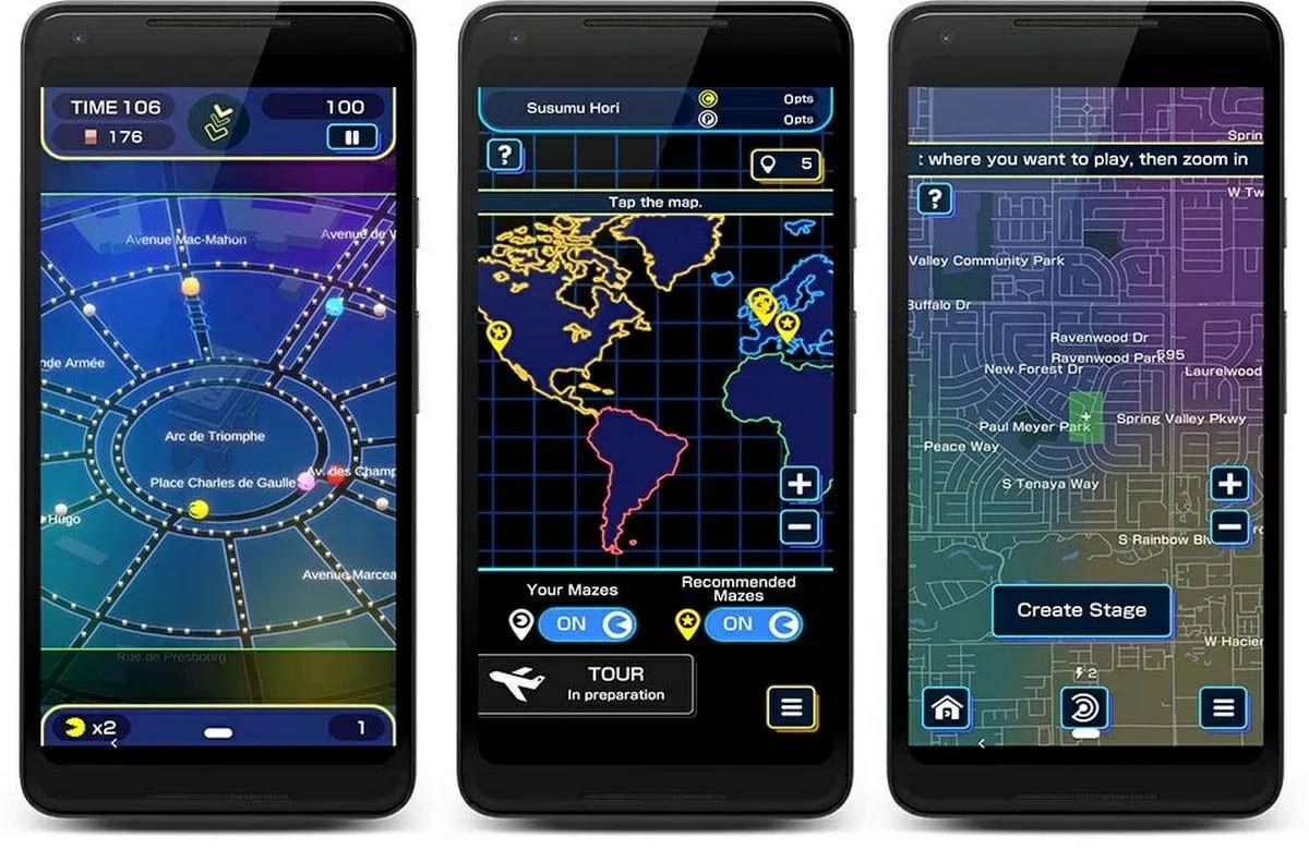 pac-man geo mapas Google Maps
