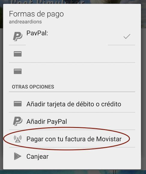 Vodafone Portugal permite el pago con factura en Google Play