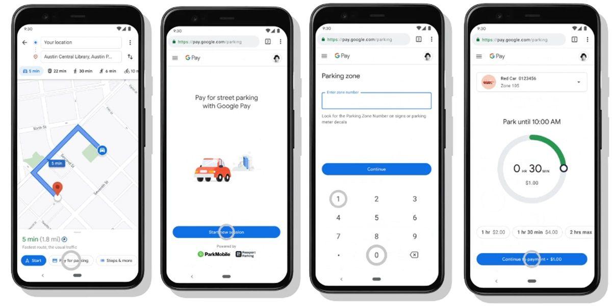 pagar parking por google maps