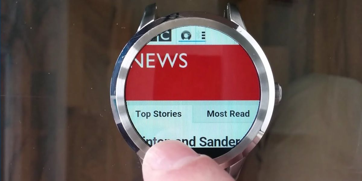 pagina web en wear os smartwatch