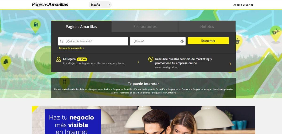 paginas amarrillas guia telefonica online