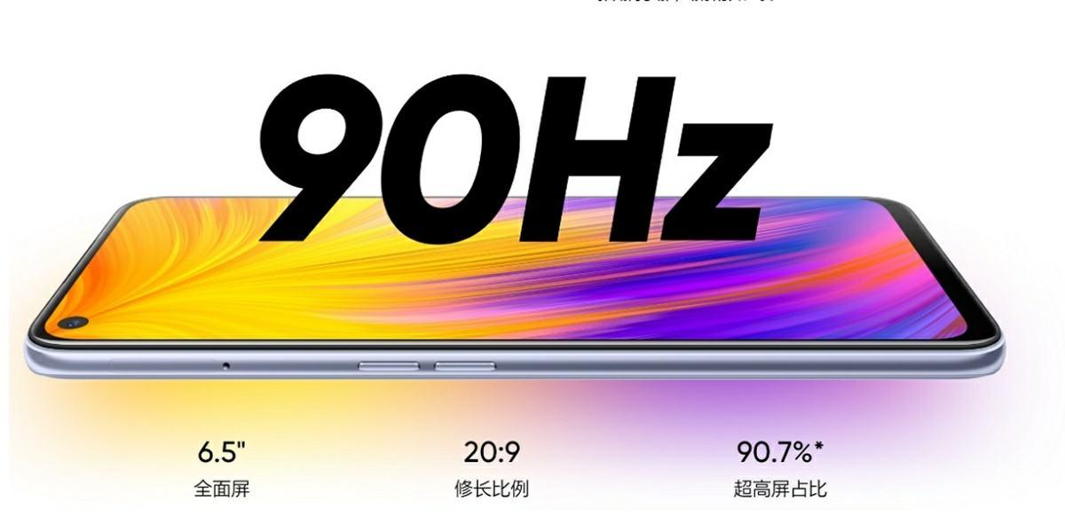 pantalla 90 hz del realme v5 5g
