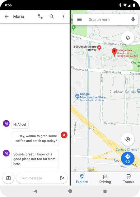 pantalla dividida android q
