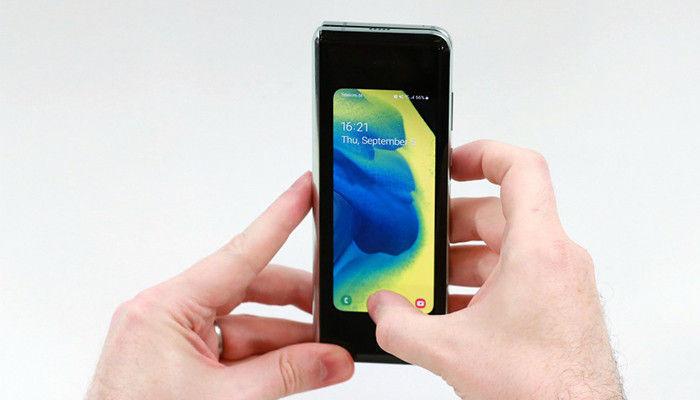 pantalla externa galaxy fold
