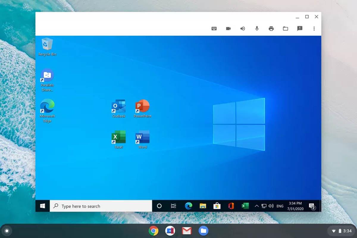 parallels desktop windows en chrome os