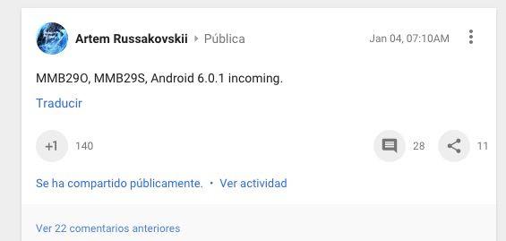 parche seguridad android 6.0.1 marshmallow