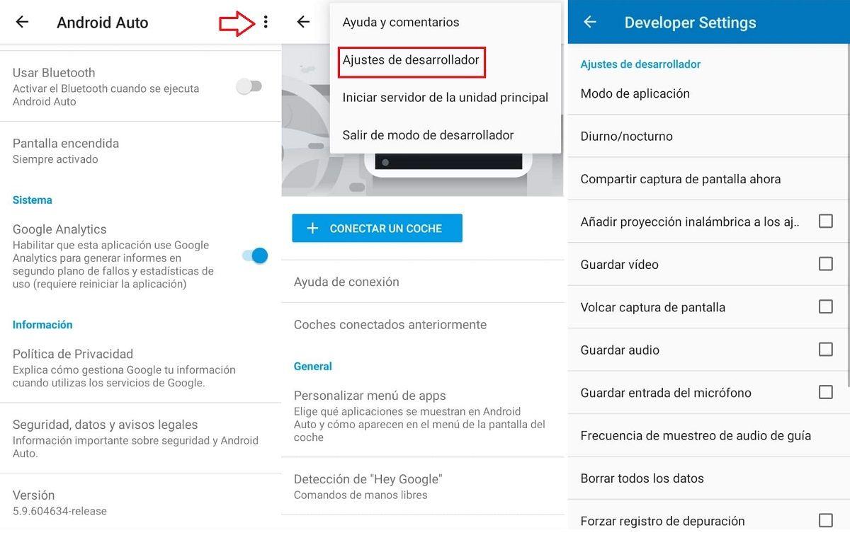 paso activar modo desarrollador android auto (2)