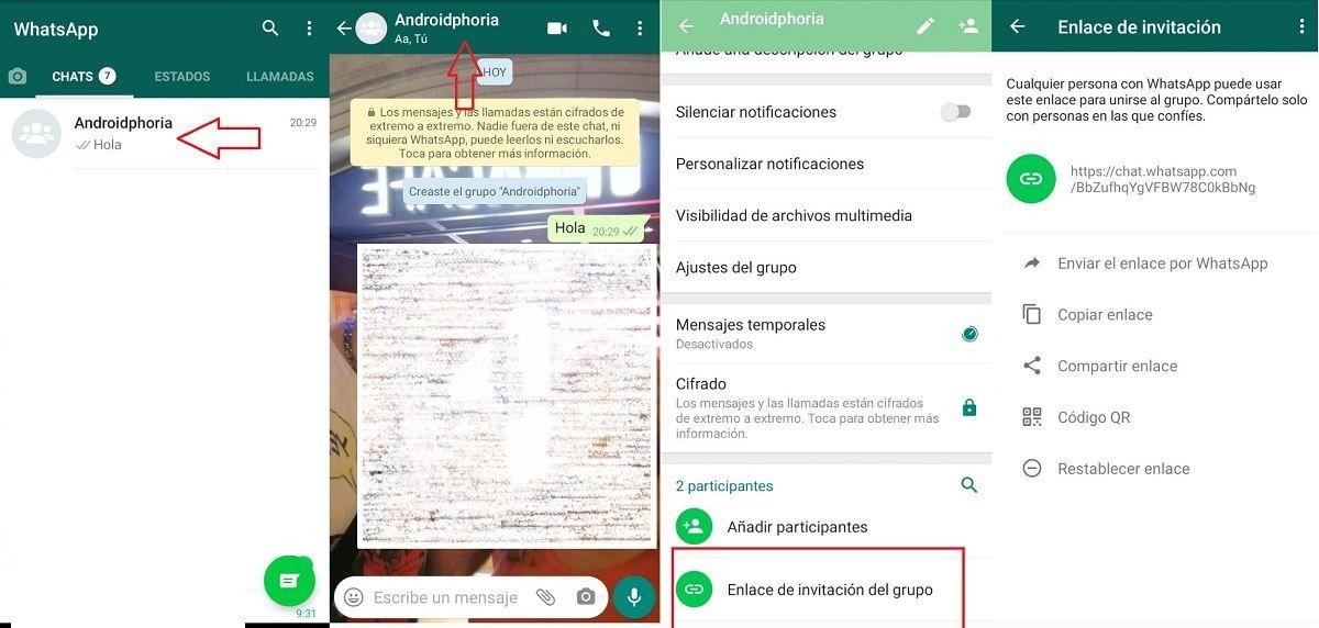 pasos crear link whatsapp