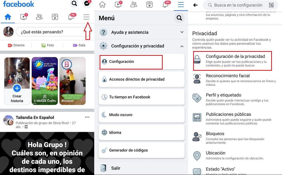 pasos eliminar facebook de google (2)
