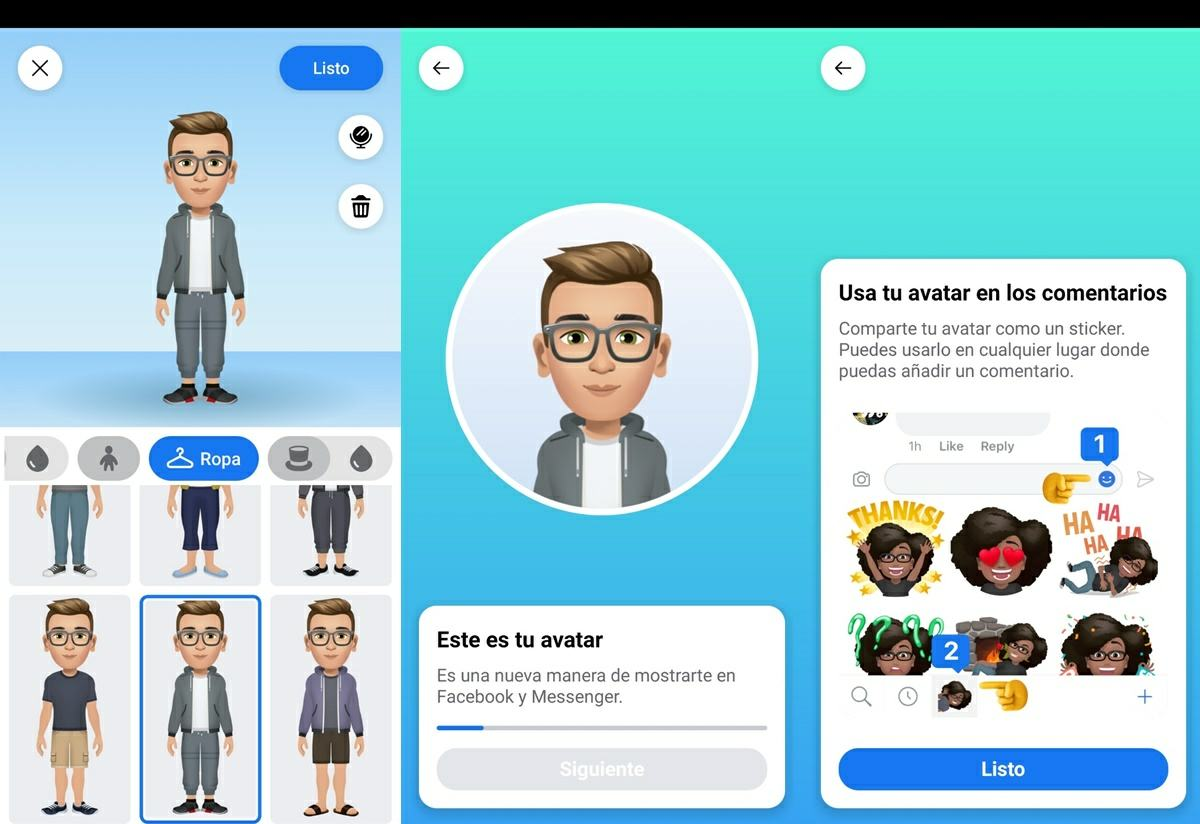 pasos para crear avatar de facebook personalizado 2