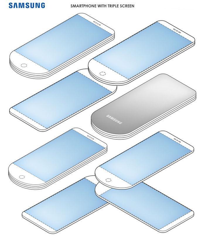 patente samsung 3 pantallas