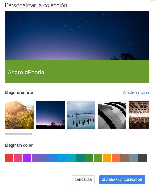 personalizar-colecciones-androidphoria