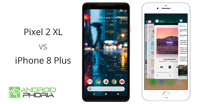 Pixel 2 XL vs iPhone 8 Plus comparativa