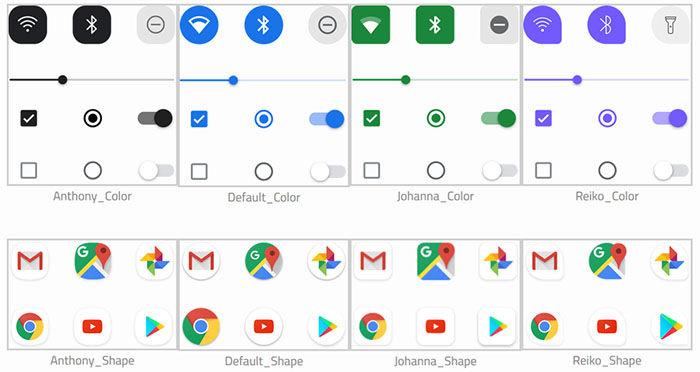 pixel themes temas ejemplos