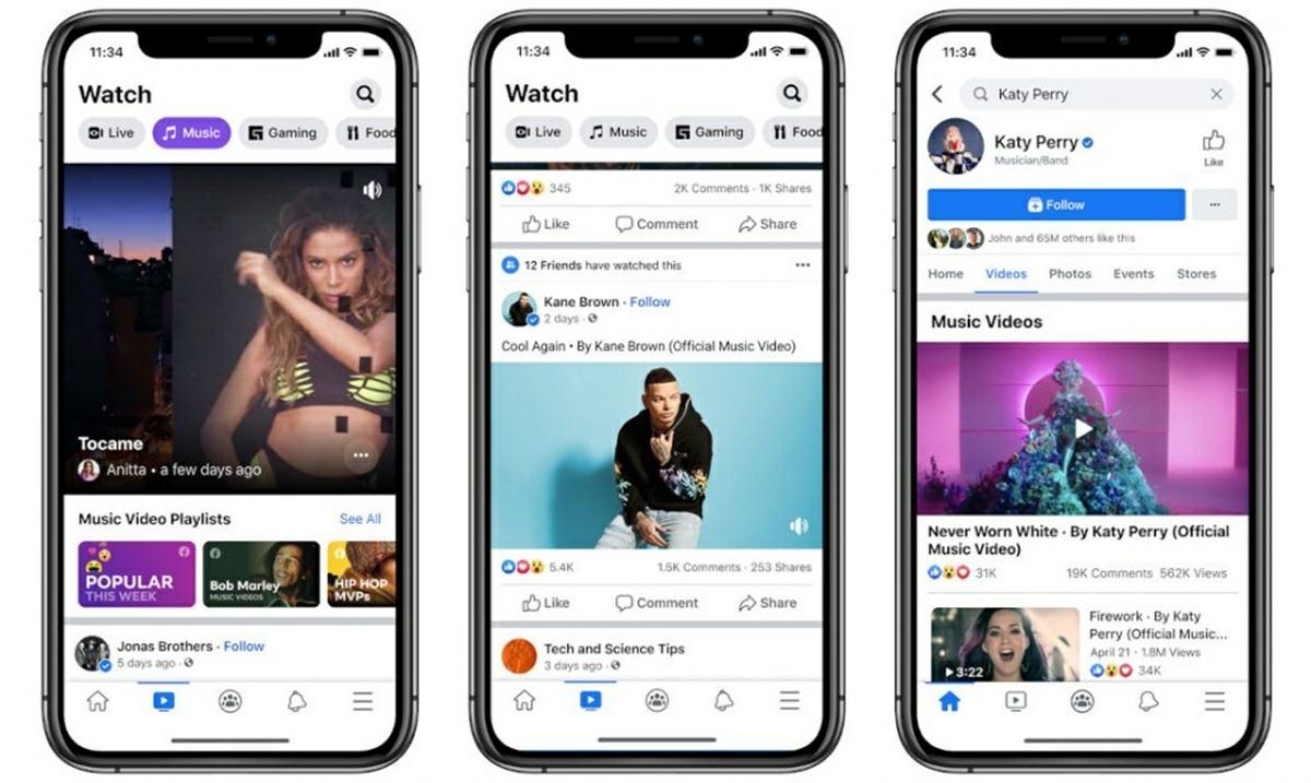 plataforma de facebook de videos musicales