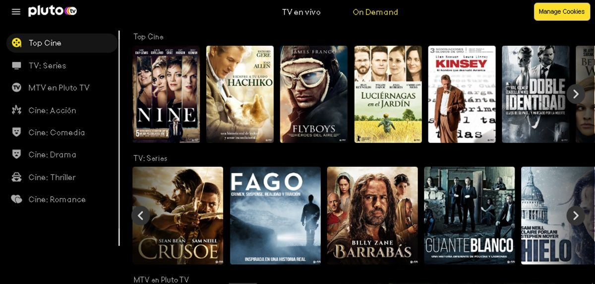 pluto tv on demand