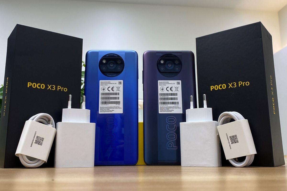 poco x3 pro caja cargador colores