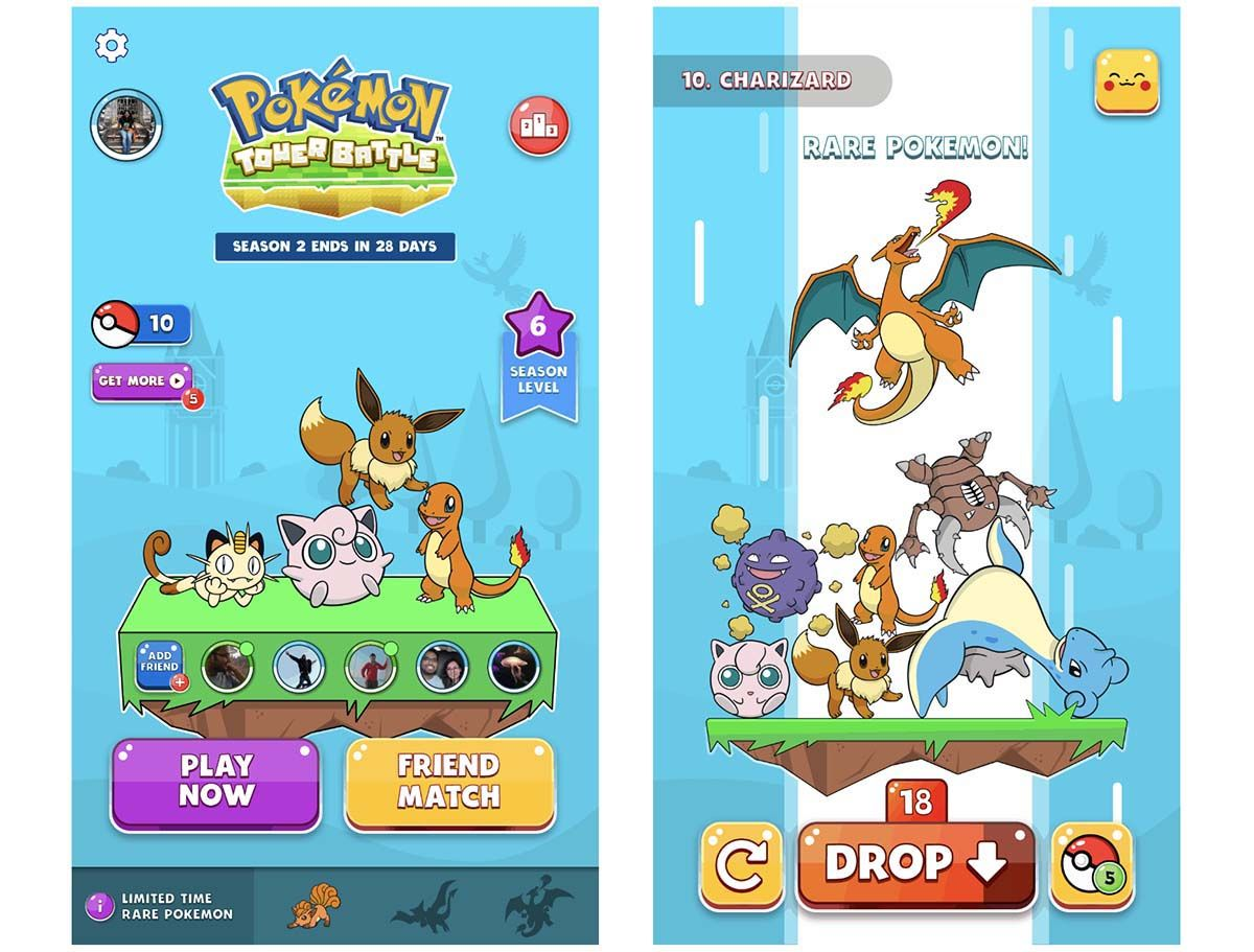 pokemon tower battle juego facebook 2019
