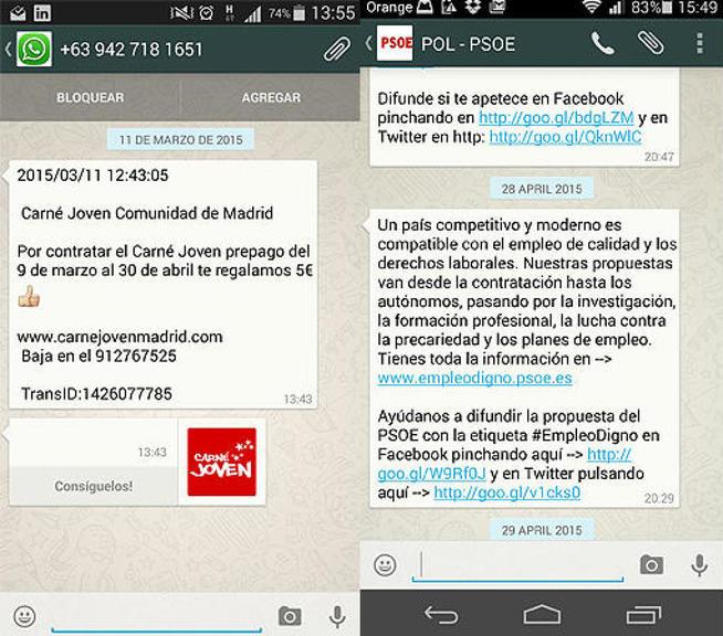 politicos utilizan whatsapp para hacer campaña