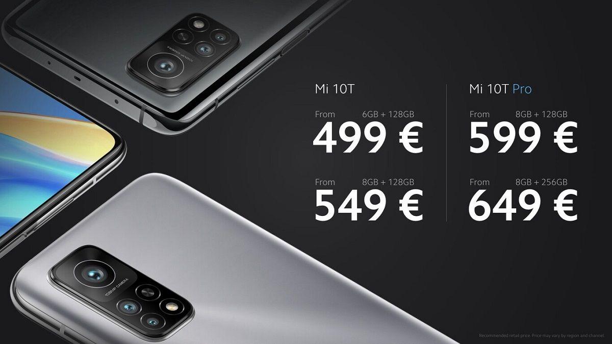 precios Xiaomi Mi 10T Pro
