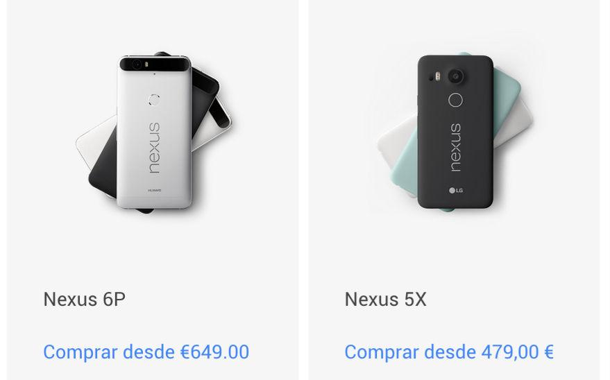 precios nexus 2015 en google store