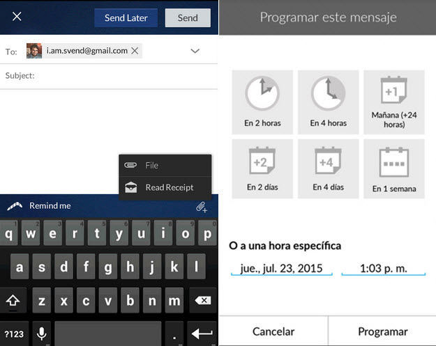 programar envio de email android1
