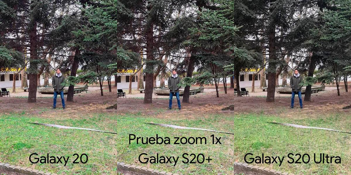prueba zoom 1x galaxy s20 vs s20+ vs s20 ultra