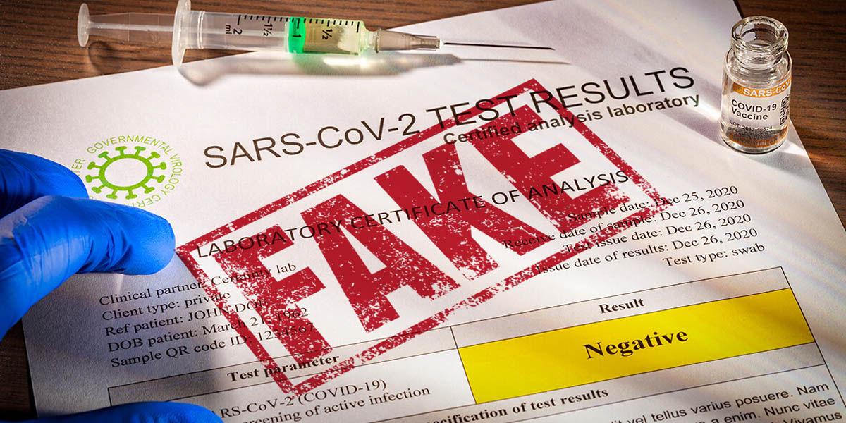 pruebas covid falsas