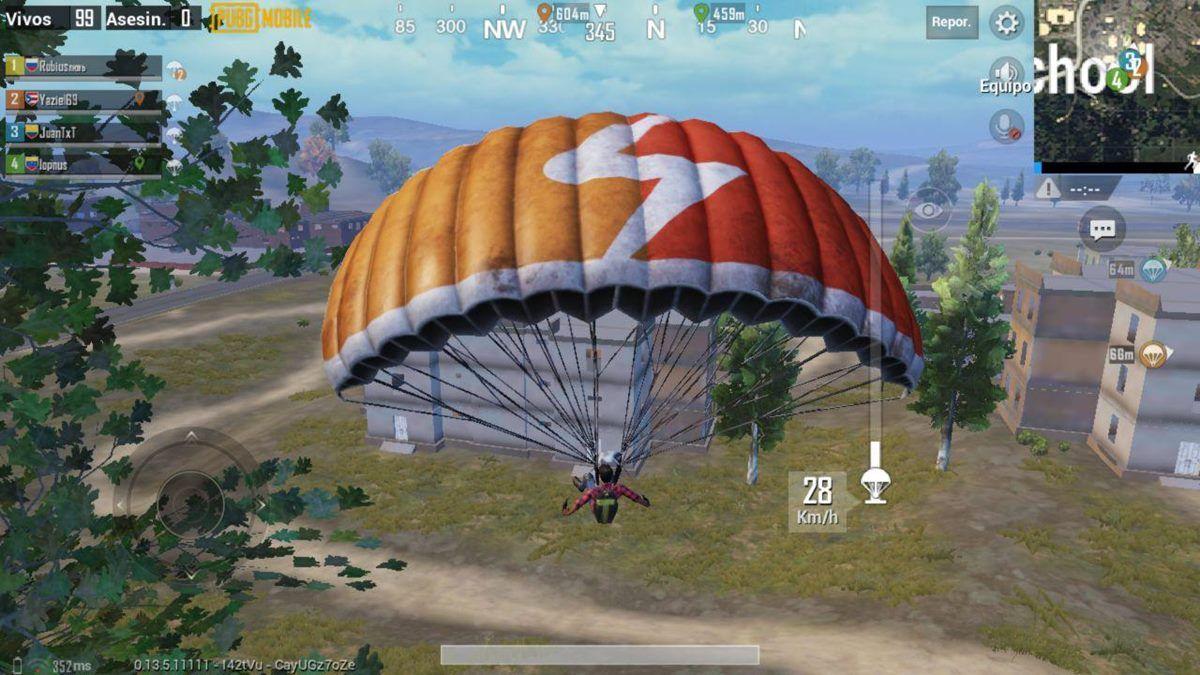 pubg paracaidas