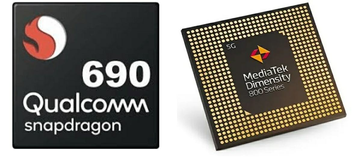 qualcomm snapdragon 690 vs mediatek dimensity 800