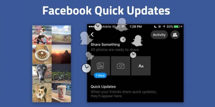 quick updates facebook