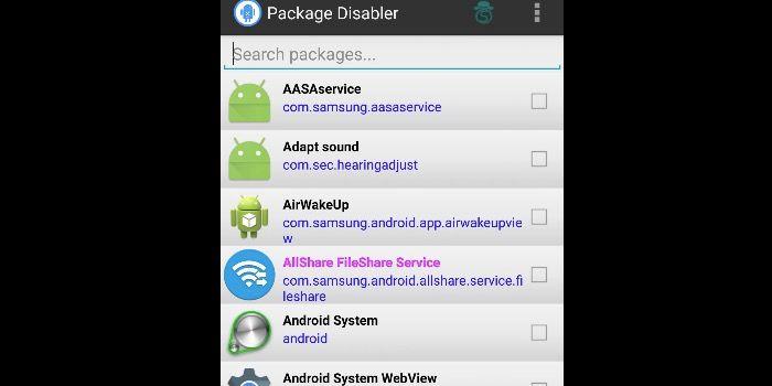 quitar apps sistema samsung
