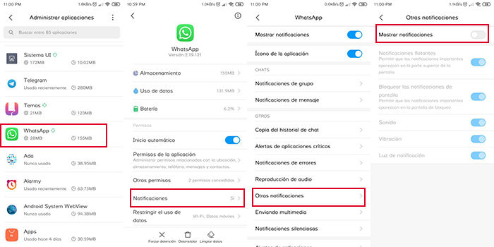 quitar notificacion de whatsapp web