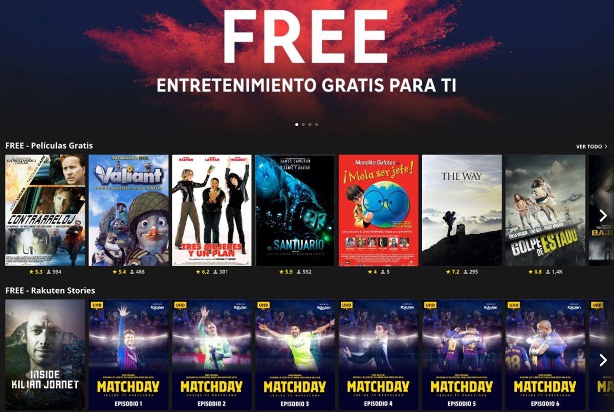 rakuten tv free