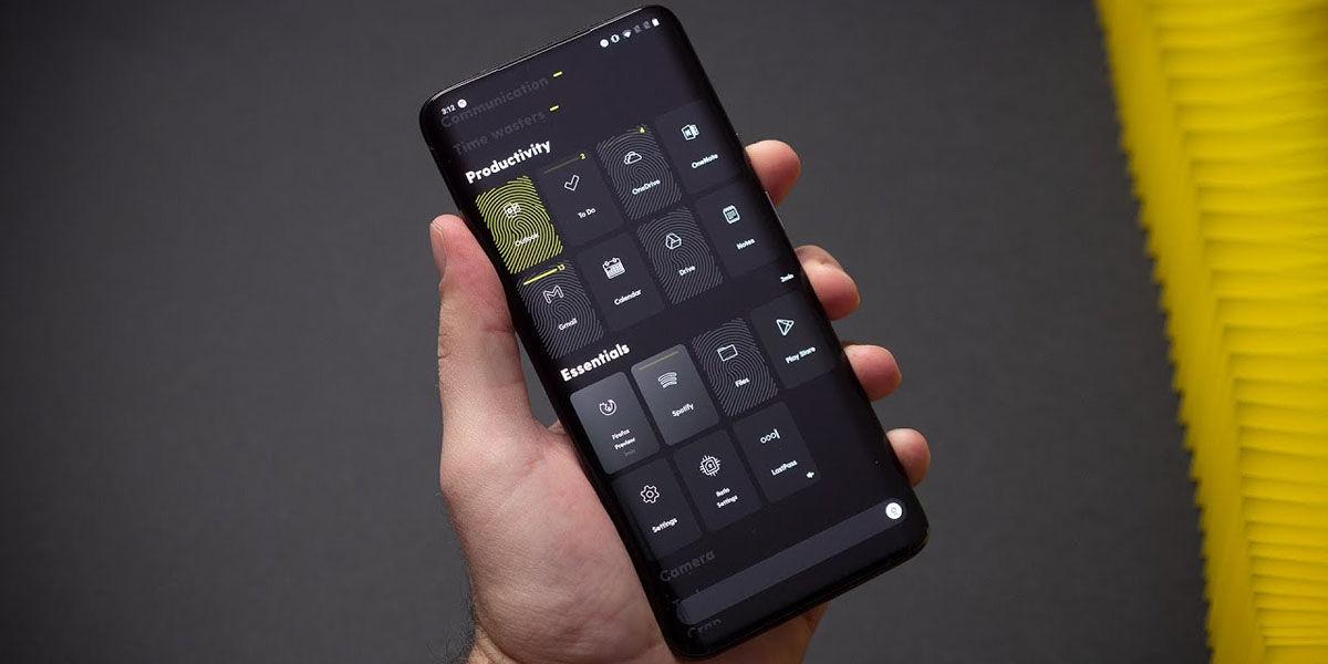 ratio launcher ahorra batería pantallas oled