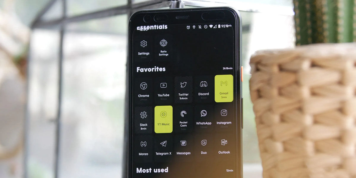 ratio launcher mejorar autonomía móvil oled