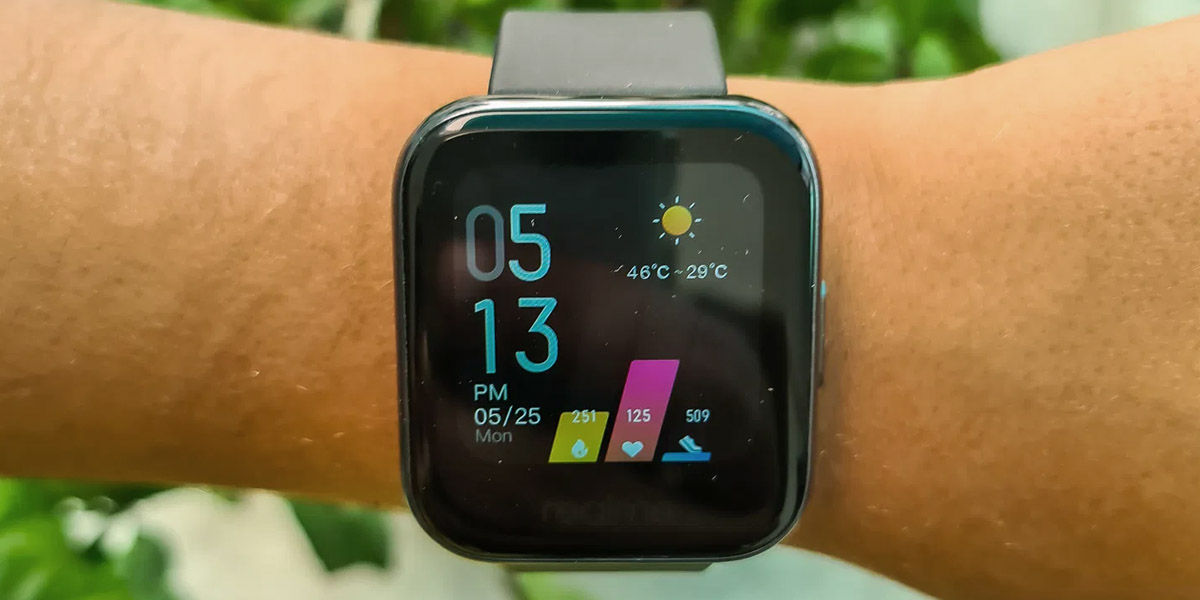 realme watch pantalla